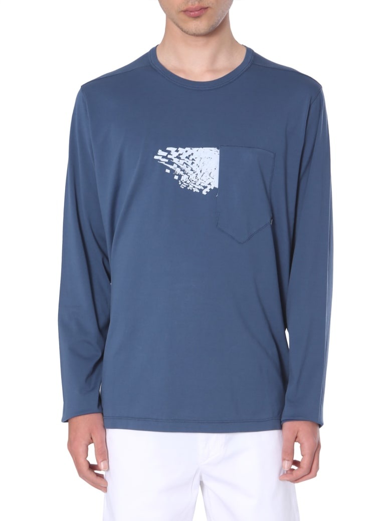 Stone Island Shadow Project Long-sleeved T-shirt - BLU