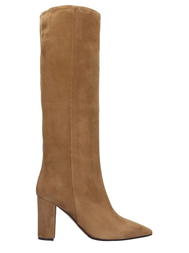 The Seller High Heels Boots In Beige Suede - beige