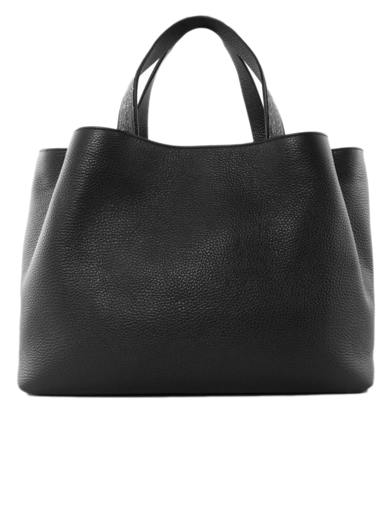 Fabiana Filippi Black Inga Leather Bag - Nero