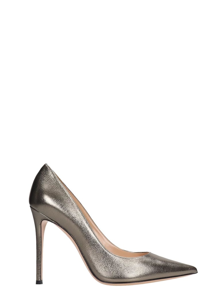 Lerre Pumps In Grey Leather - grey