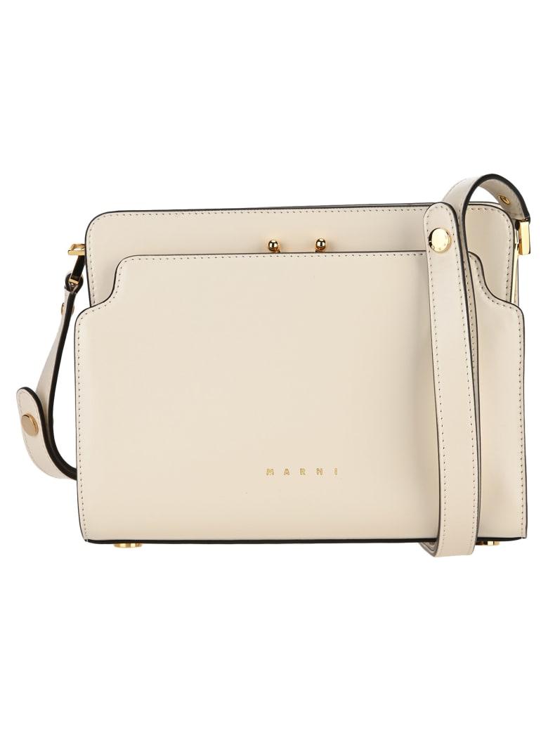Marni Trunk Reverse Shoulder Bag - SILK WHITE