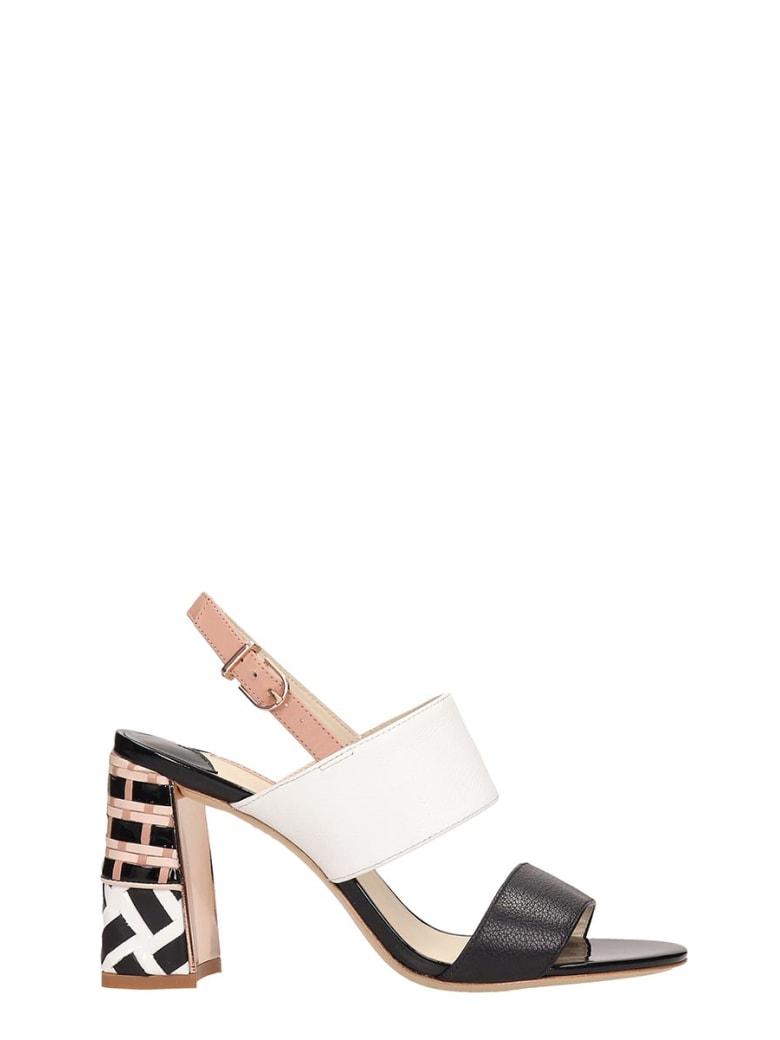 6babba783d67a Sophia Webster Celia Black White Leather Sandals