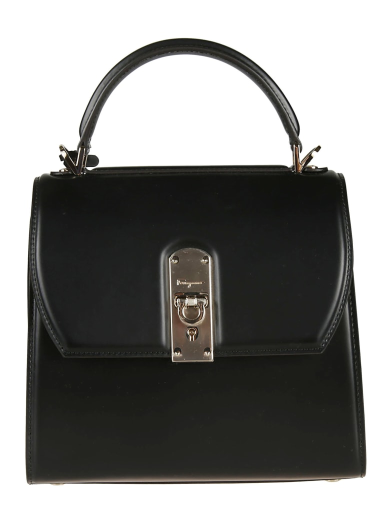 Salvatore Ferragamo Hanging Tag Tote - black