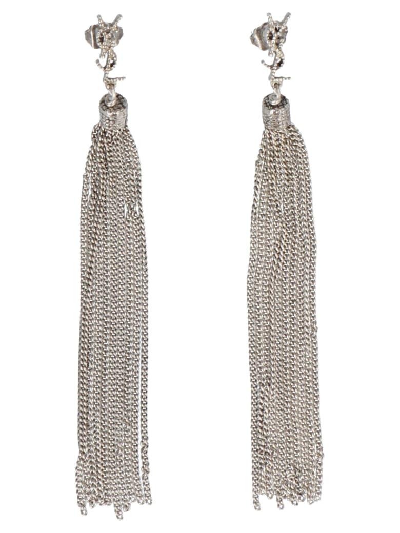 Saint Laurent 'lou Lou' Earrings - Silver