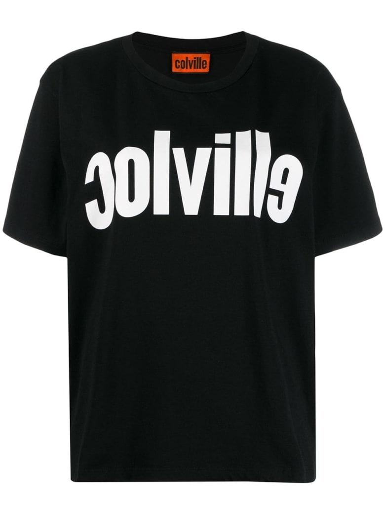 Colville Logo Print T-shirt - Black White
