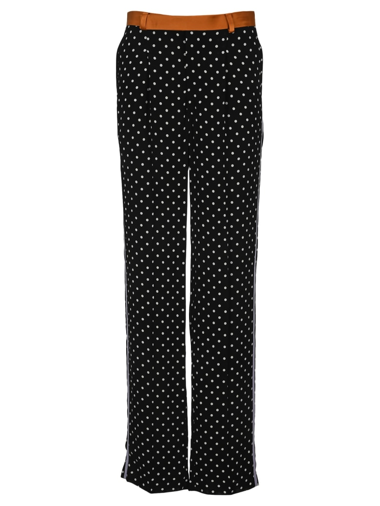 Haider Ackermann Straight Leg Polka Dot Trousers - BLACK WHITE