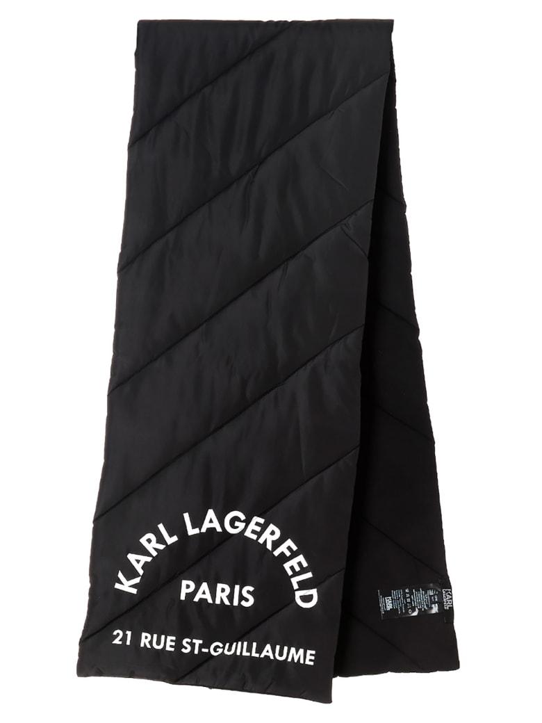 Karl Lagerfeld 'rue St Guillaume' Scarf - Black