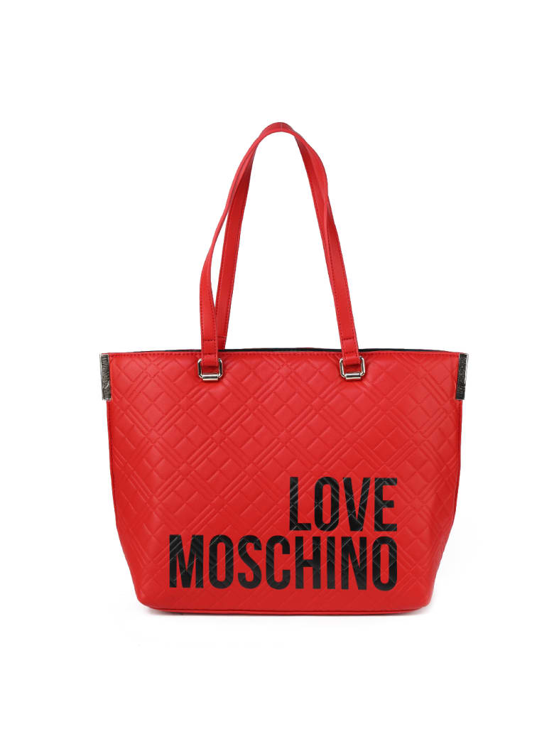 Love Moschino Red Quilted Ecoleather Bag - Red