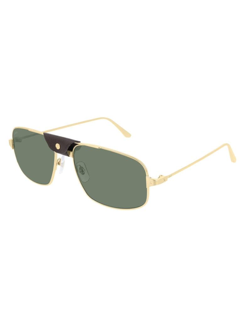 Cartier Eyewear CT0193S Sunglasses - Gold Gold Green
