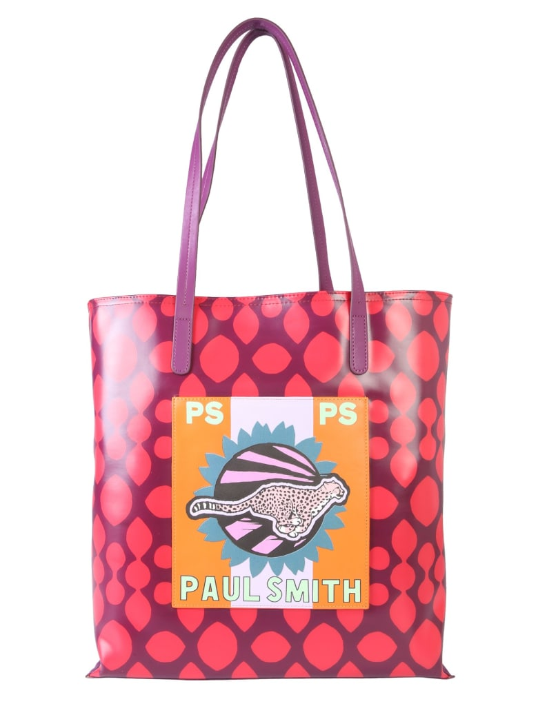 PS by Paul Smith Live Faster  Shopping Bag - ROSSO