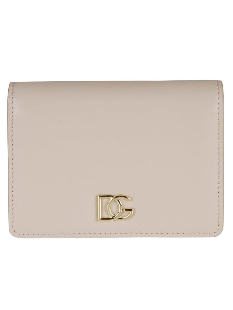 Dolce & Gabbana Classic Snap Button Wallet - powder