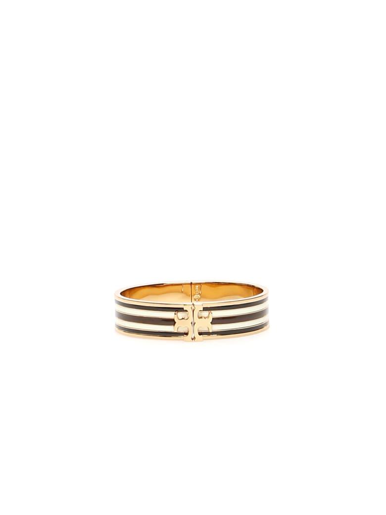 Tory Burch Multicolor Kira Bracelet - BLACK IVORY CHOCO (Gold)