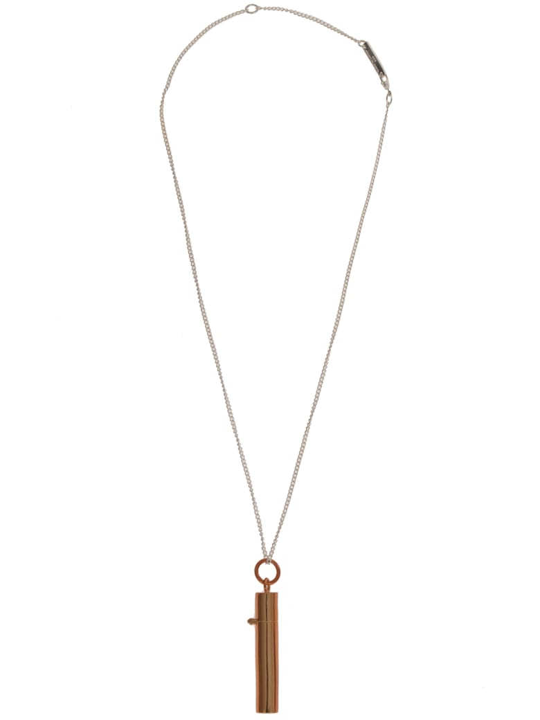 AMBUSH Sss Pill Case Necklace - Brown
