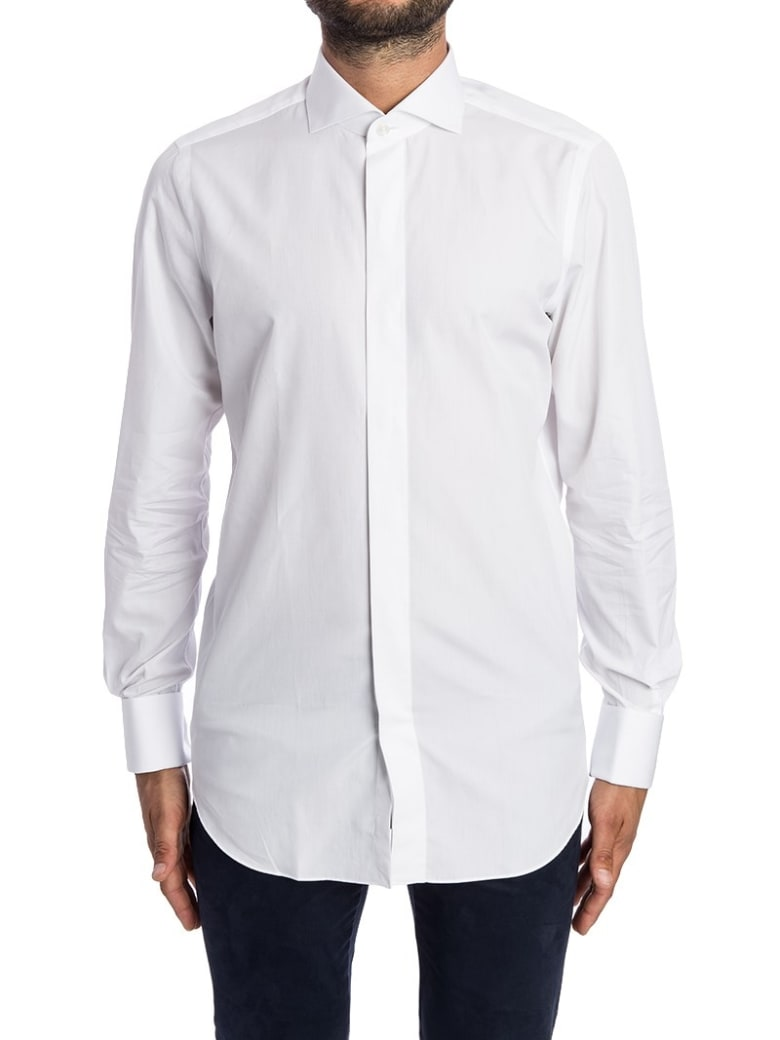 Finamore Shirt Cotton Double Cuff - White
