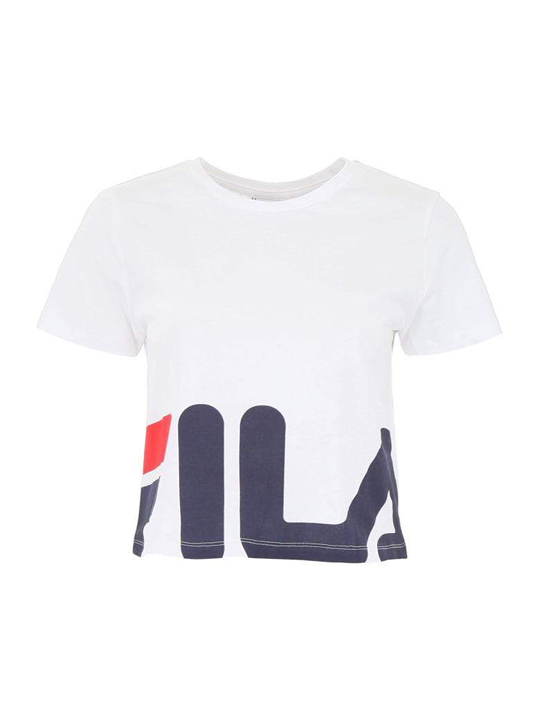 Fila Early Cropped T-shirt - BRIGHT WHITE (White)