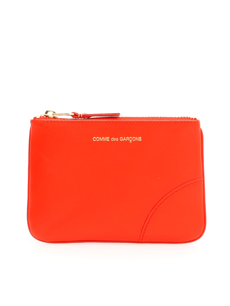 Comme des Garçons Wallet Unisex Color Block Pouch - ORANGE (Orange)