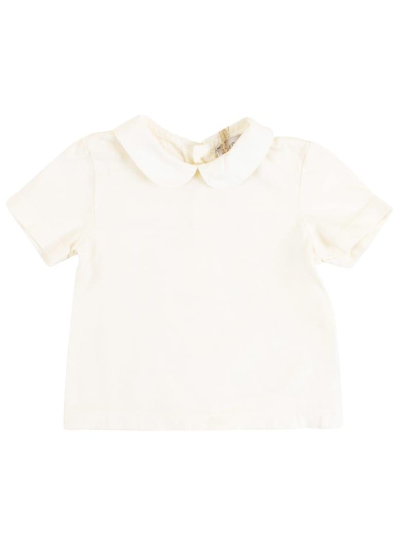 De Cavana Baby T-shirt With Collar - Latte