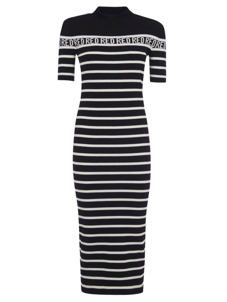 RED Valentino Striped Slim Long Dress - 0mg