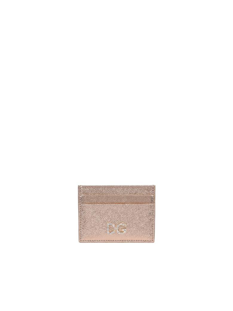 Dolce & Gabbana Logo Cards Holder - Gold