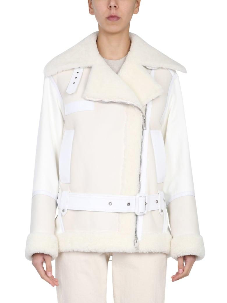 Mr & Mrs Italy Elizabeth Sulcer Capsule Leather Jacket - BIANCO