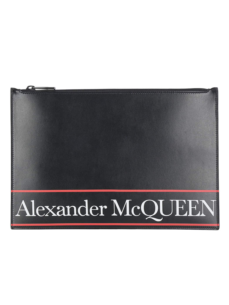 Alexander McQueen Flat Pouch - Black/red