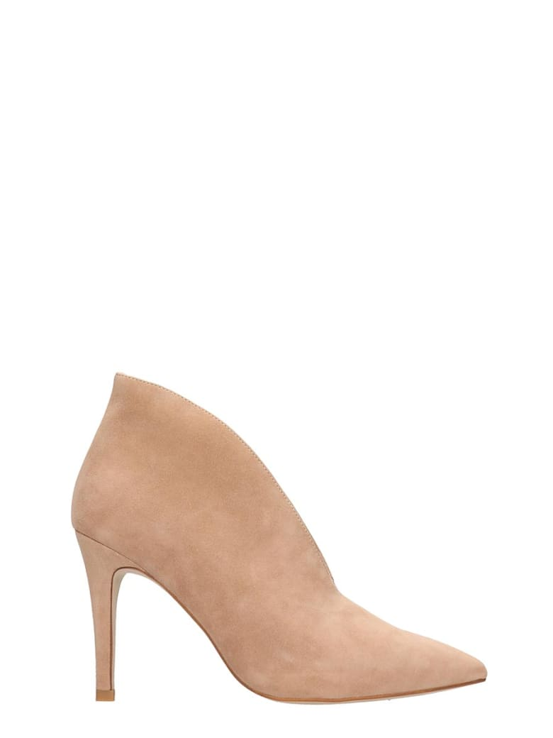 Jeffrey Campbell Electron High Heels Ankle Boots In Rose-pink Suede - rose-pink