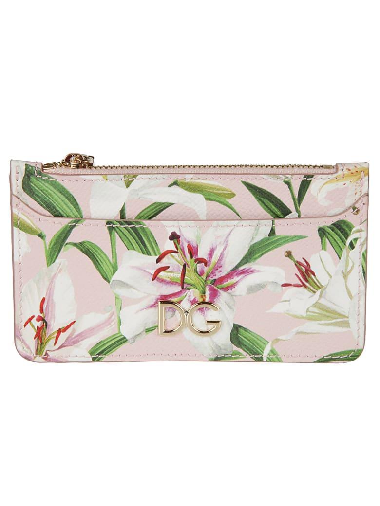 Dolce & Gabbana Dauphine Print Card Holder - pink