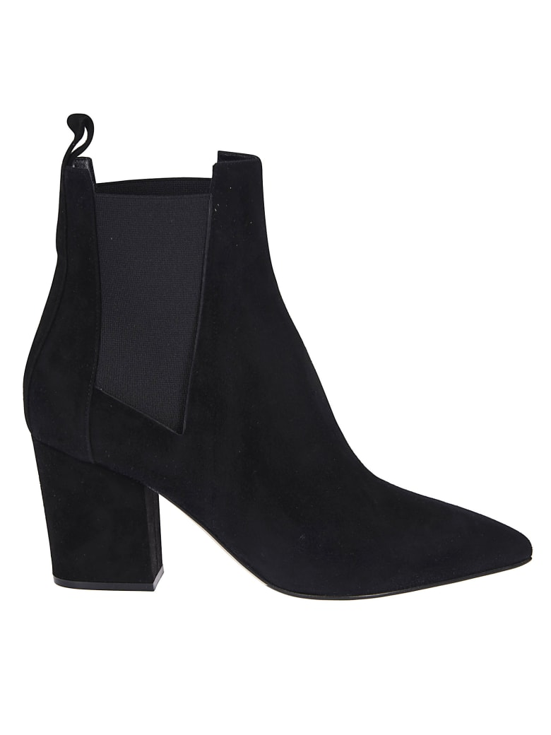Sergio Rossi Pointed Toe Boots - Black