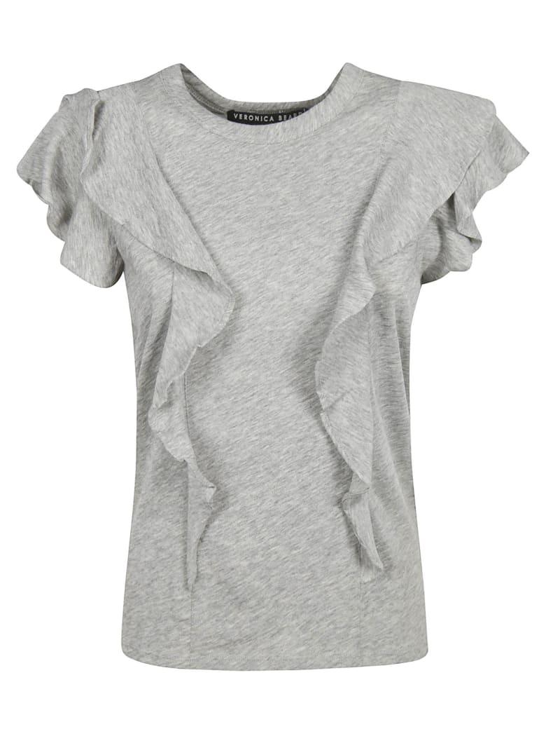 Veronica Beard Ruffle T-shirt - Grey