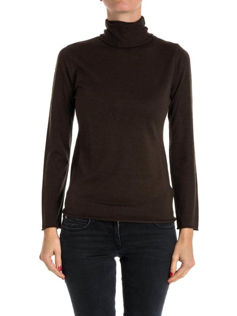 Kangra Silk And Cashmere Turtleneck Sweater - Military
