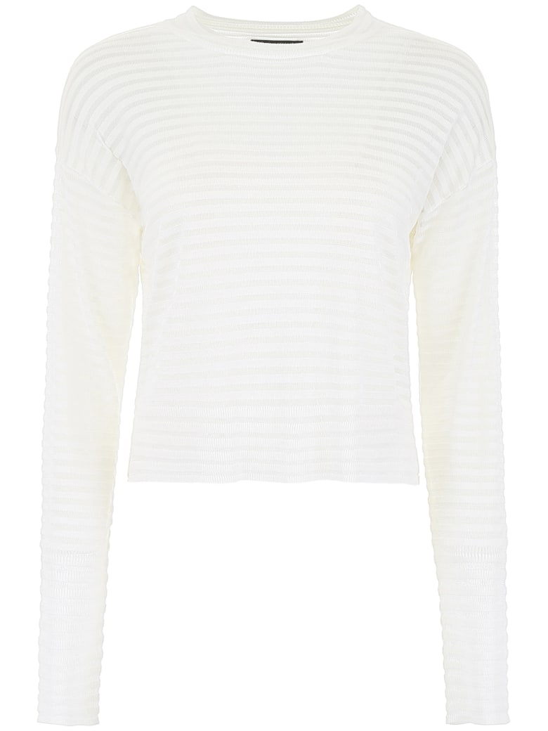 RTA Striped Pullover - WHITE CLOUD (White)