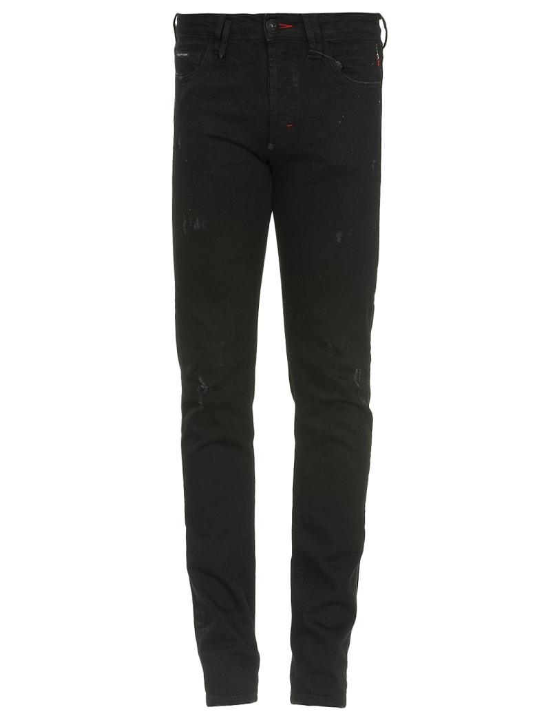 Philipp Plein Super Straight Cut Hexagon Jeans - PANTHER
