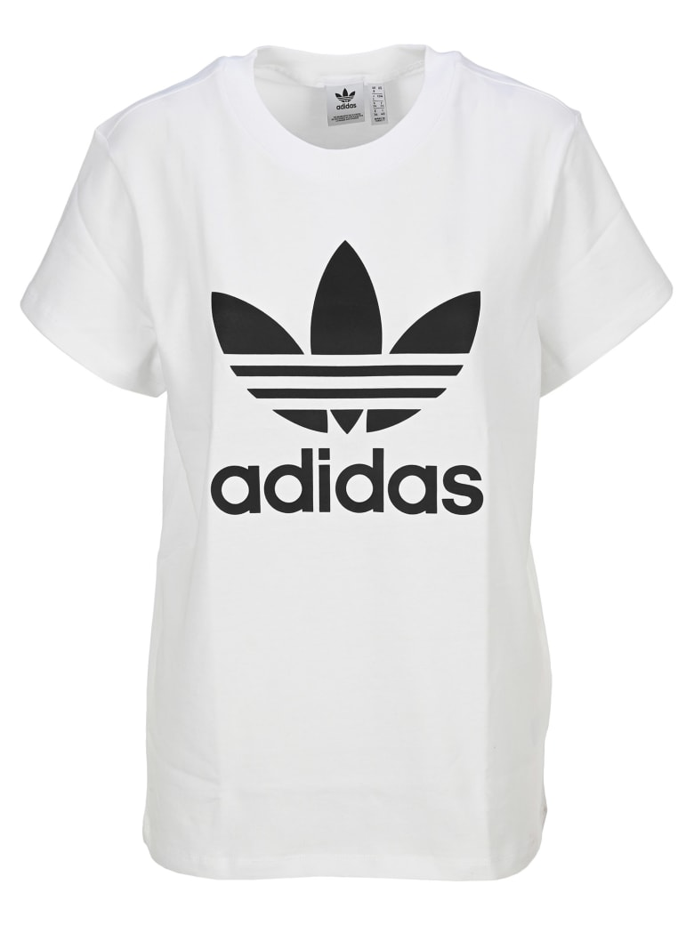 Adidas Originals Logo Print T -shirt - WHITE
