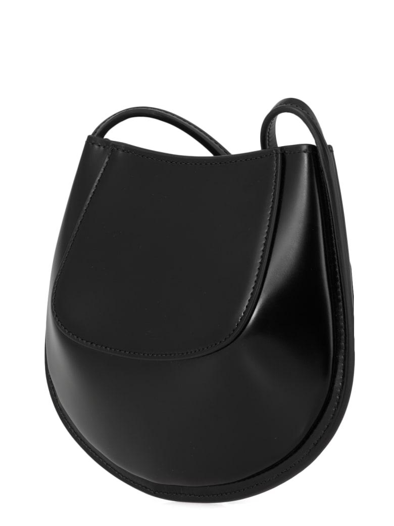 Jil Sander Leather Shoulder Strap Bag - Black