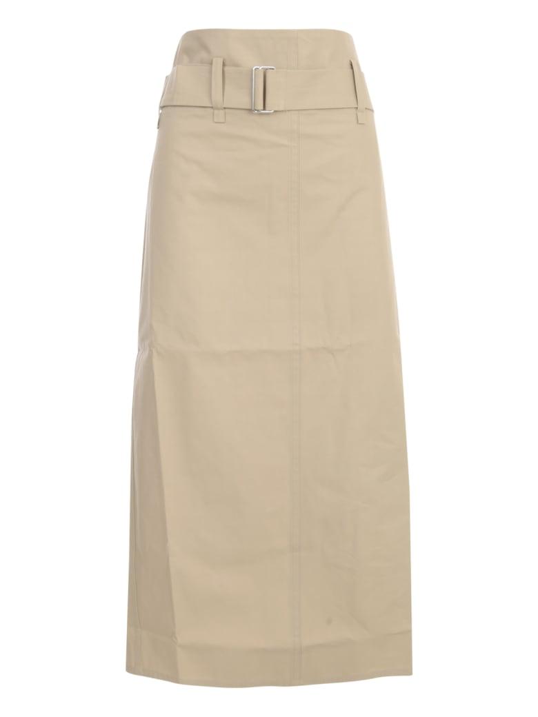 Sofie d'Hoore Belted Straight Midi Skirt - Woven Sand