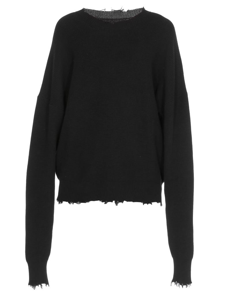 Ben Taverniti Unravel Project Cotton And Cashmere Sweater - BLACK NO C
