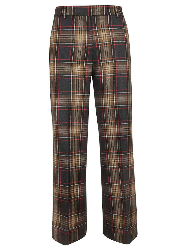 QL2 Melody Trousers - Camel/Red