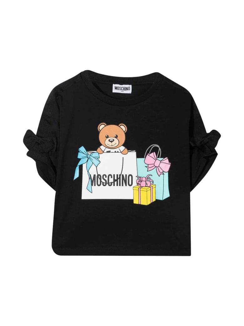 Moschino Black T-shirt With Toy Print - Nero