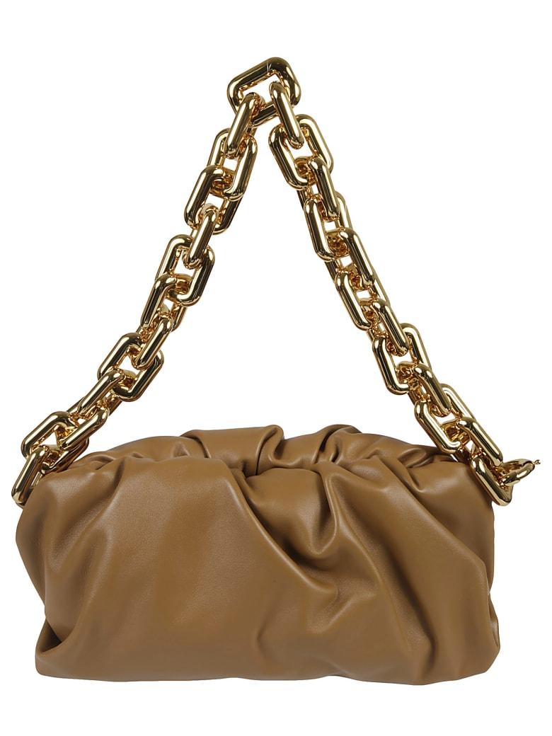 Bottega Veneta The Chain Pouch - Teak Gold