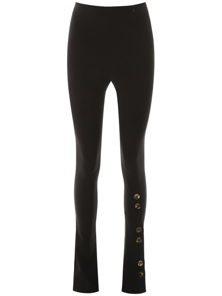 A.W.A.K.E. Mode Fitted Pants With Buttons - BLACK (Black)