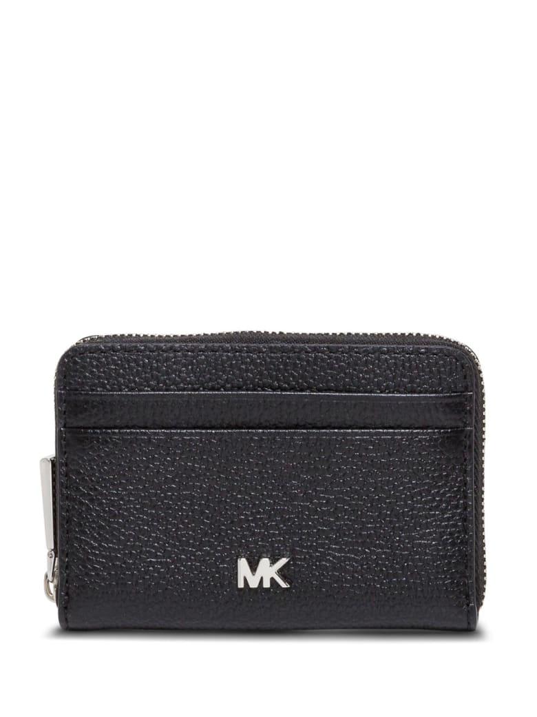 MICHAEL Michael Kors Mott Wallet In Black Leather - Black