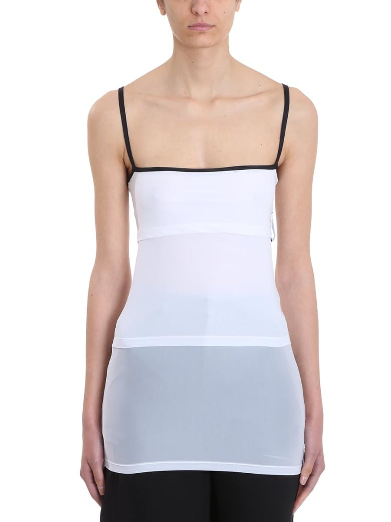 Y/Project White Layered Tank Top - white