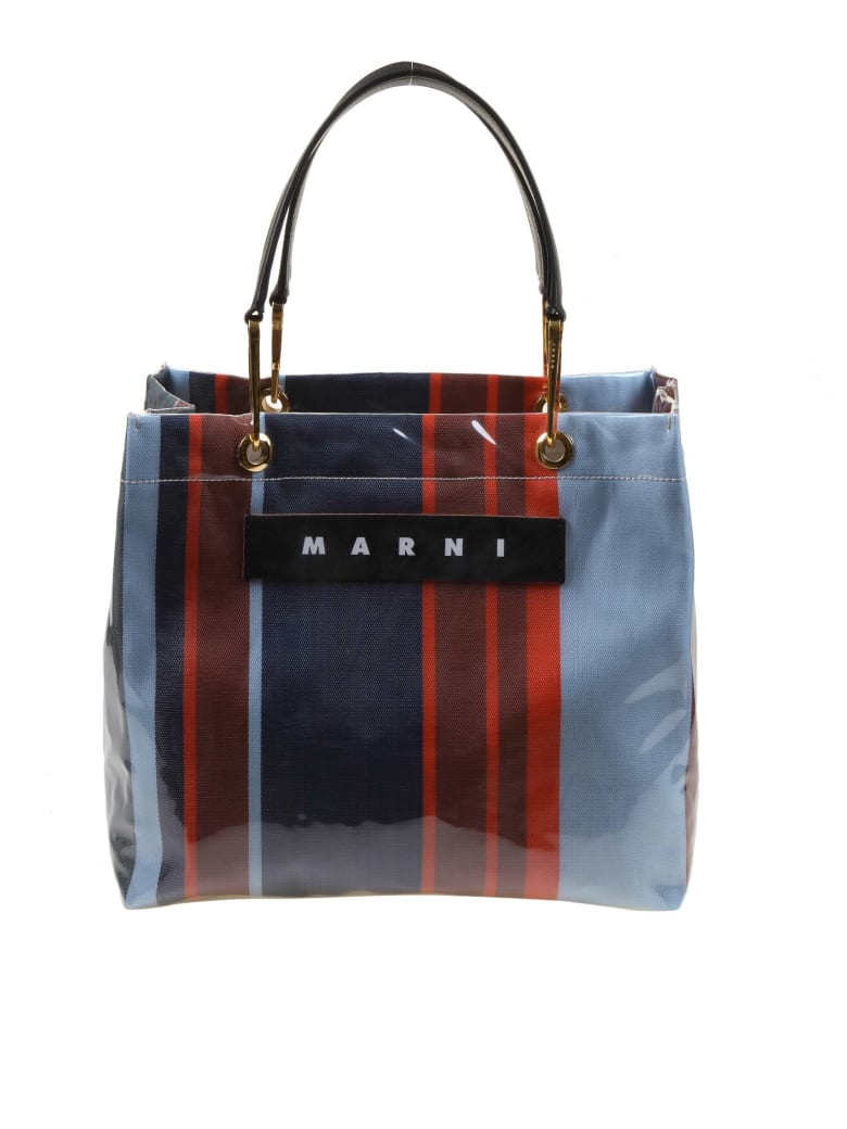 Marni Shopping Glossy Grip Multi-colored Polyamide - Blu/Rosso