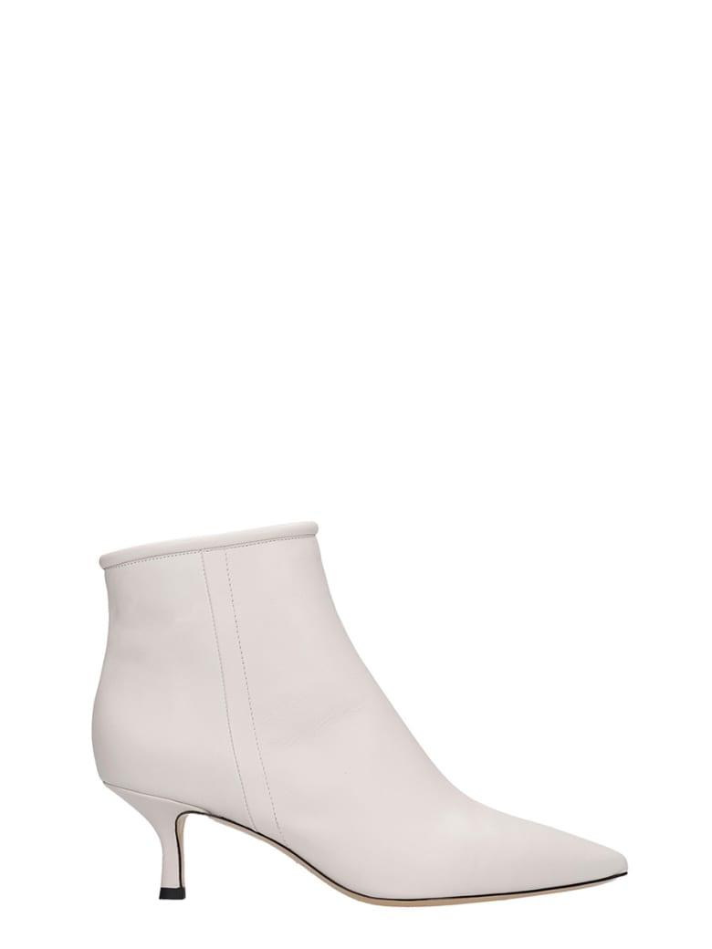 Fabio Rusconi Low Heels Ankle Boots In Beige Leather - beige