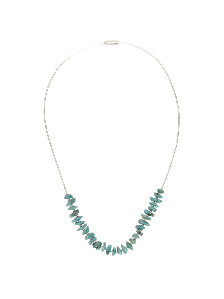 Jessie Western Silver Turquoise Power Necklace - SILVER TURQUOISE (Silver)