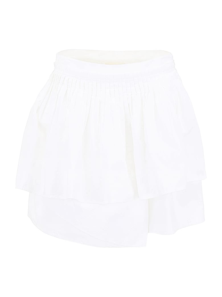 Ulla Johnson Pleated Alice Skirt - BLANC (White)