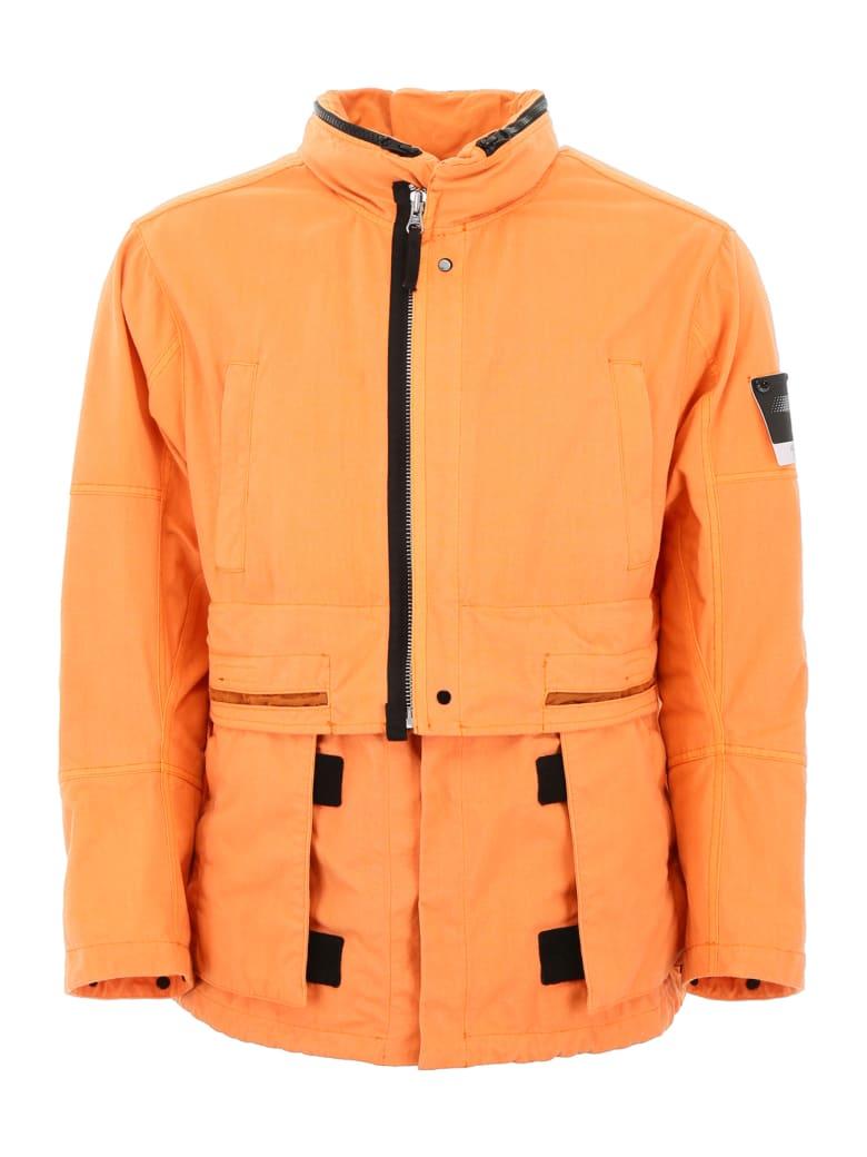 Stone Island Shadow Project Jacket With Detached Hood - SALMONE (Orange)