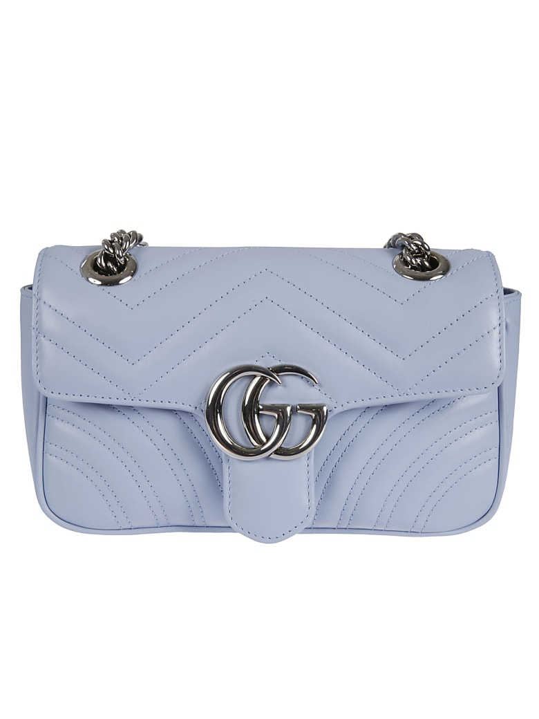 Gucci Gg Marmont 2 Shoulder Bag - Porcelain Blue