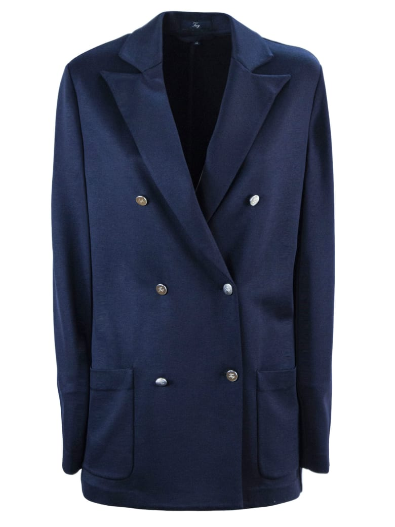 Fay Double Breasted Jacket - Blu