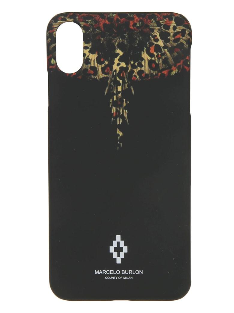 Marcelo Burlon Leopard Wings Xs Phone Case - Black/Multicolor